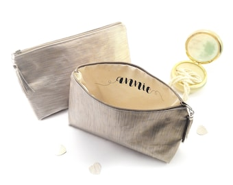 Personalization - ADD ON - Monogram makeup bags Personalized bridesmaid make up bag Wedding cosmetic bag Zipper makeup case Zipper pouch