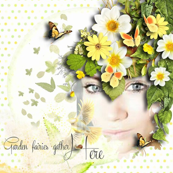 Cheerful nature digital scrapbooking word arts vintage for Cheerful nature