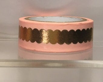 Pink with gold washi tape