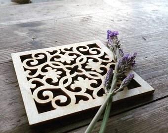 Coasters | Unique coasters | Wooden coasters | Set of 4 | Mashrabiya,