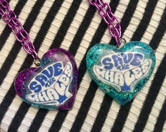 Ecowarrior Save the Whales Necklace