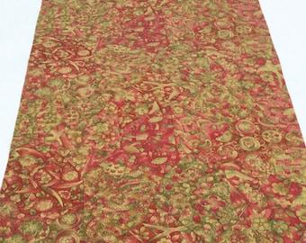 Vintage Kimono Silk Fabric, Kimono Silk Cloth,Kiribame, Red