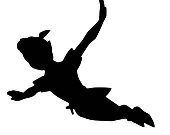 peter pan decal etsy
