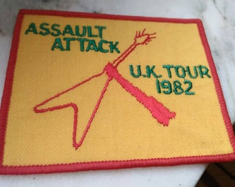 Michael Schenker Group , msg 1982 , vintage patch embroidered , assault attack uk tour 82 !!!