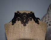 Choker, Lace Choker, Black Lace Choker, Choker Necklace, Fancy Choker, Boho Jewelry, Hippie Chick, Bohemian Necklace, Trendy Choker