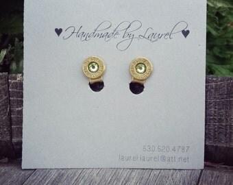 Clip on brass 9mm earrings