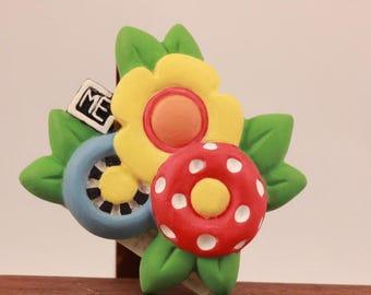 Mary Engelbreit PolyStone Flower Magnet.