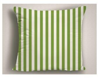 Outdoor Pillow Green Stripes, Pantone Greenery Outdoor Pillows, Patio Pillow Cover, Throw Pillow Outdoor, Outdoor Pillow Cushion