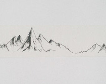 Design Washi tape Mountains Mountain sketch Wide