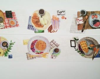 Design Washi tape breakfast dinner plate