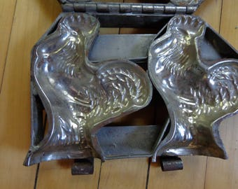 Vintage chocolate rooster mold/press