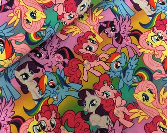 My little pony - pony rainbow- fabric- hasbro fabric -fabric- material -sewing -supply -