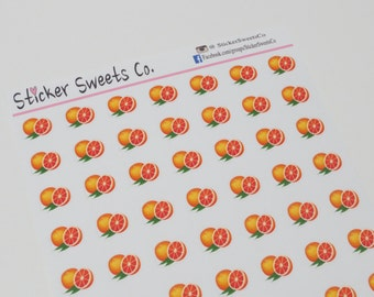 Orange or Grape Fruit Planner Stickers