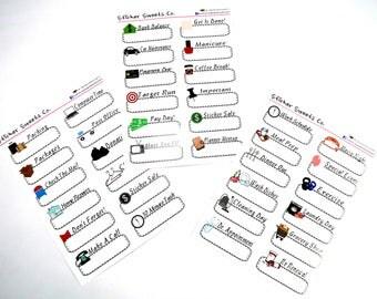 Functional Sticker Set Everyday Basics