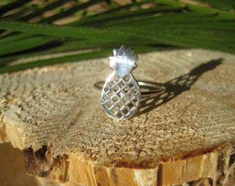 Sterling Silver Pineapple Fruit Ring