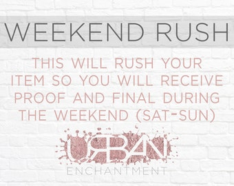 Hurry! Weekend Rush!