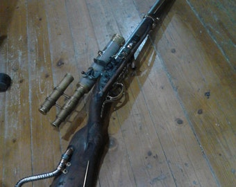"Steampunk Rifle  (""Custom build - previous rifle made , NOT FOR SALE  , i take Custom requests for both pistol's and rifles."