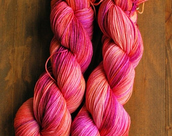 Ring Around the Rosie, Hand Dyed Yarn, SW Sock