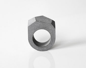 Concrete ring, Minimalist and Modern ring, concrete jewelry, architectural rings, gift for her and architect, handmade product