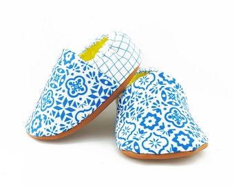Blue Marrakech Baby Booties