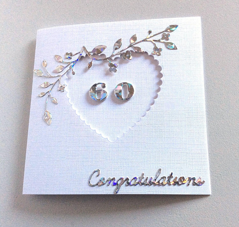 diamond wedding anniversary 60th anniversary card wife