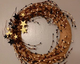 Rustic Americana Wreath