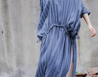 Asymmetrical tunic dress short sleeve linen dress linen maxi dress oversize dress summer dress plus size clothing maternity dress