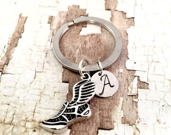 Track shoe keychain, track and field keychain, sprinter keychain, track coach, running keychain, personalized keyring