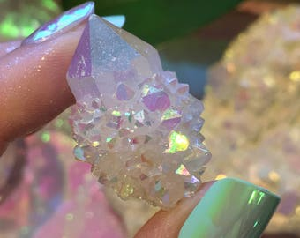 High Quality Angel Aura Spirit Quartz Point