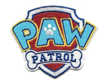 Paw Patrol Patch Embroidered Iron / Sew on Badge Costume DIY Applique Souvenir