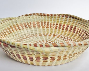 Sweetgrass  Braided Edge Bowl - Sweetgrass Basket, Gullah, African Basket, Woven Basket, Charleston, SC