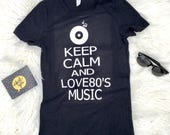 Keep calm and love 80's music, Graphic tee, 80's music, love music, concert shirt, graphic t-shirt, music shirt, gift for her,
