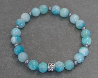 Dyed Jade Stretch Bracelet - Ladies