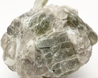 Cluster of Platy Green Muscovite, Quartz, and Albite Crystals from Oceanview Mine, Pala District, San Diego County, California