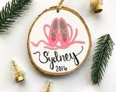 Baby's first Christmas ornament, ballerina ornament, personalized christmas ornaments, ballet shoes, dance ornament