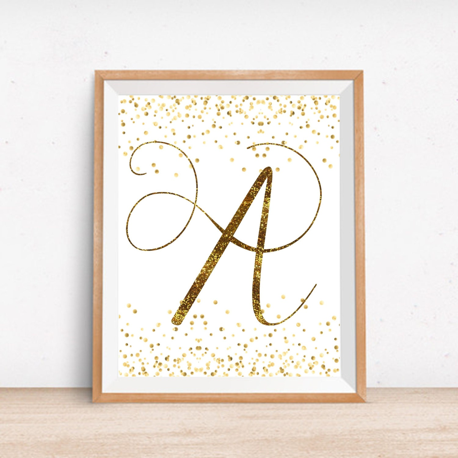 Gold Letter Wall Art Nursery Gold Letter A Printable Monogram Gold Wall Decor