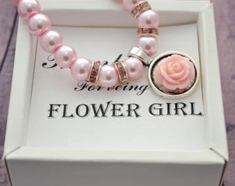 Flower girl gift ideas Wedding gift Flower girl bracelet personalized Flower girl jewelry Wedding bracelet Kids bracelet Childrens bracelet