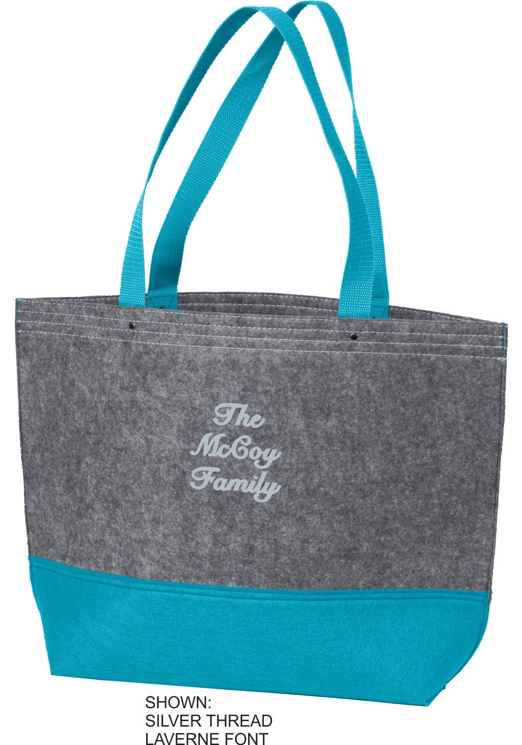 Personalized tote bag monogrammed beach custom family