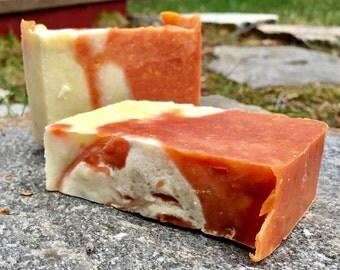 Handmade Vegan Orange Clove Cold Process Soap
