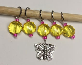 Butterfly Stitch Markers, Large, Knitting, Knit