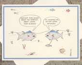 Funny Birthday Card, Friend Birthday Card, Birthday Card For Him, Punny Birthday Card, Ocean Card, Funny Fish, Quirky Card, Nautical