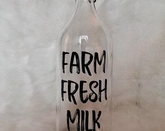 Farm Fresh Milk Bottle