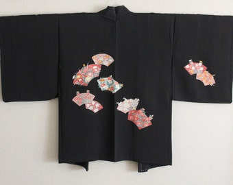 Black-Camellia pattern jacket