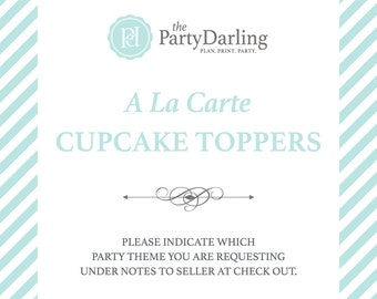Cupcake Toppers | Party Logos | Printable A La Carte | Party Printables | Party Decorations | Party Decor | Custom | The Party Darling