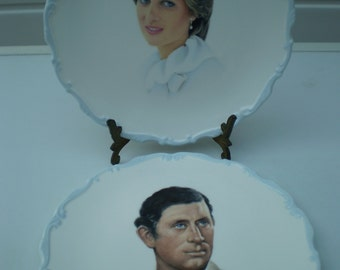 Royal Albert China Plates - Marriage of Prince Charles and Lady Diana Spencer - 1981 - British Royalty - Made in England