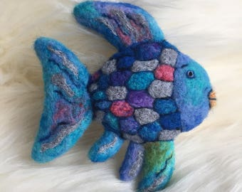 Felted Rainbow Fish Photography Prop