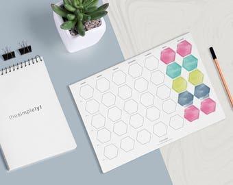 Blank Calendar Printable Monthly Planner Printable, Women Gift, Entrepreneur Planner, Daily Planner Organiser Organizer, Business Planner