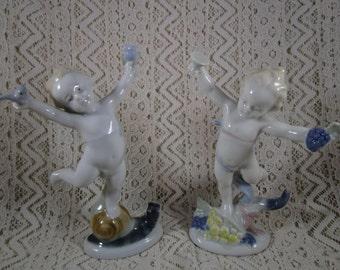 German Porcelain Figurines, German Democratic Republic, Kunstporzellan (mfg.), Ilmewau (City)