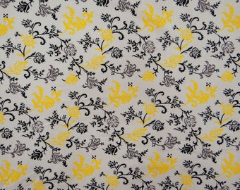 """Dressmaking Fabric, Floral Print, Indian Fabric, White Fabric, Sewing Crafts, Decorative Fabric, 42"""" Inch Rayon Fabric By The Yard ZBR532A"""