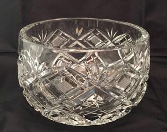 """Crystal Bowl - 4&1/2"""" diameter - CA 1950's - Item CR 1"""